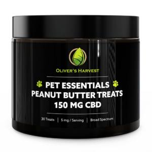 Pet Essentials Broad Spectrum 150mg Peanut Butter CBD Treats 28 Oliver`s Harvest
