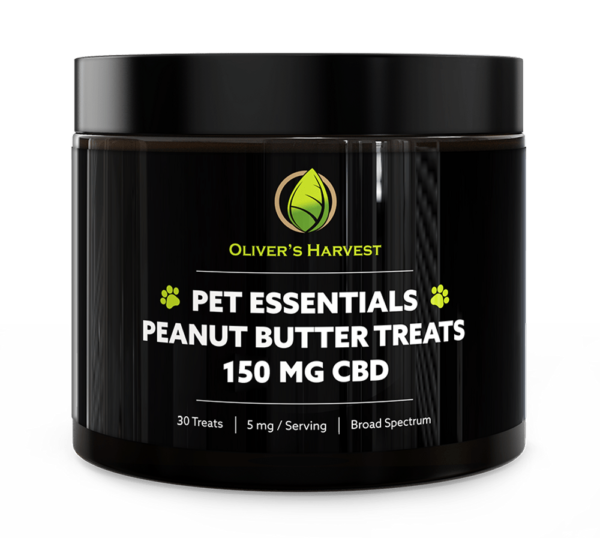 Pet Essentials Broad Spectrum 150mg Peanut Butter CBD Treats 1 Oliver`s Harvest