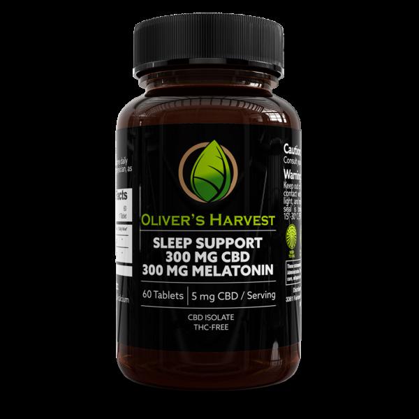 Oliver's Harvest 300mg CBD Sleep Support Tablets 1 Oliver's Harvest