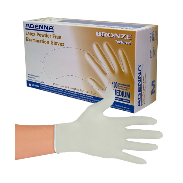 Medium Latex Powder-Free Bronze Exam Gloves 100/Box 1 Oliver's Harvest